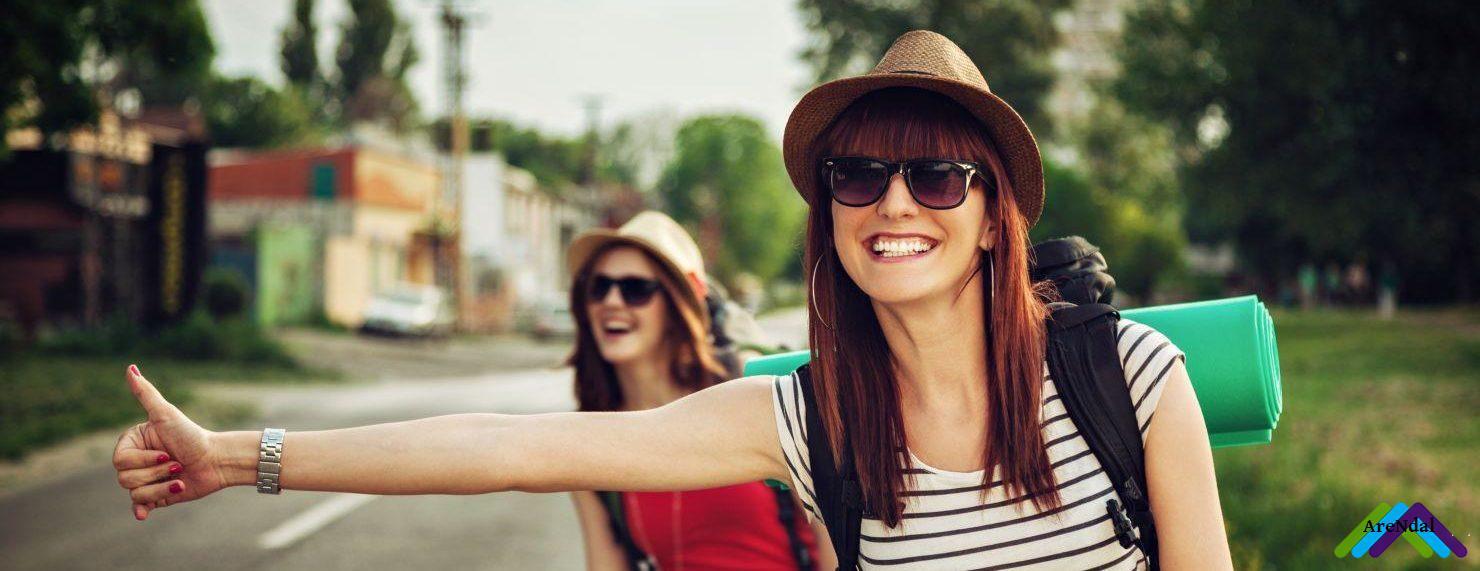 Женщины в возрасте снимаются автостопом